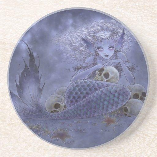 Fantasy Art Coaster - Dark Mermaid