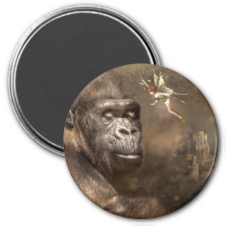 Fantasy Art  Gorilla with Fairy  Magnet