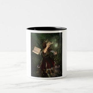 Fantasy art illustration: demon woman Two-Tone coffee mug