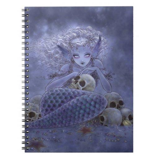 Fantasy Art Notebook - Dark Mermaid