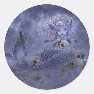 Fantasy Art Sticker - Dark Mermaid
