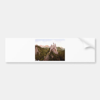 fantasy-art-wallpaper-34, Neuschwanstein Castle Car Bumper Sticker