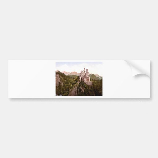 fantasy-art-wallpaper-34, Neuschwanstein Castle Bumper Sticker