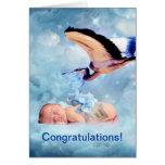 Fantasy baby and stork