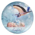 Fantasy baby and stork congrats