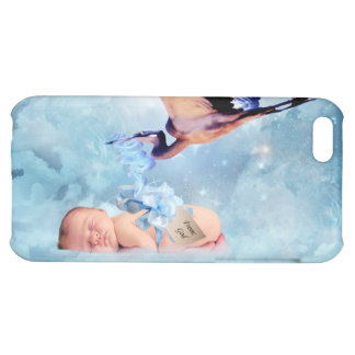 Fantasy baby and stork cover for iPhone 5C