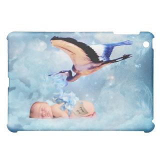 Fantasy baby and stork iPad mini cover