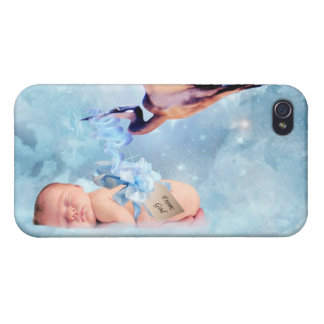 Fantasy baby and stork iPhone 4/4S covers