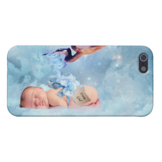 Fantasy baby and stork case for iPhone 5/5S