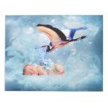 Fantasy baby and stork memo notepads