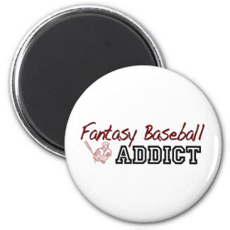 Fantasy Baseball Addict 6 Cm Round Magnet