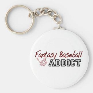 Fantasy Baseball Addict Basic Round Button Key Ring