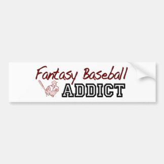 Fantasy Baseball Addict Bumper Sticker