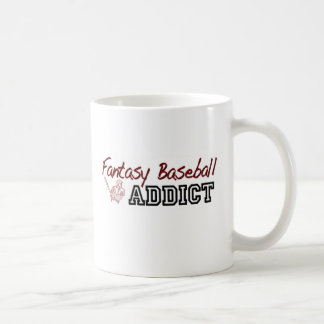 Fantasy Baseball Addict Basic White Mug