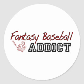 Fantasy Baseball Addict Round Stickers