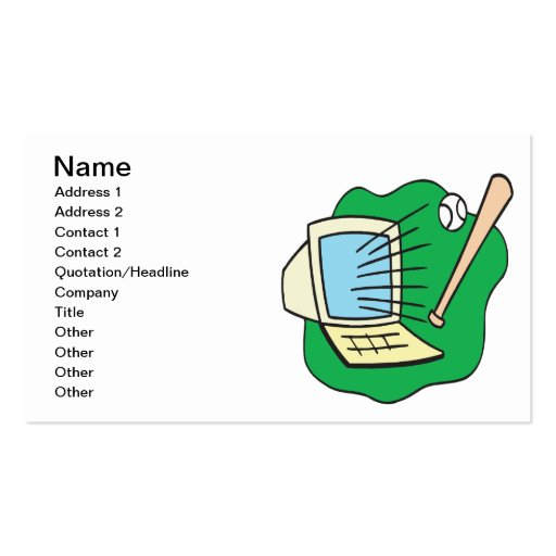 Fantasy Baseball Business Card Templates