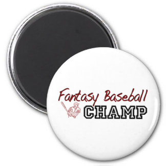 Fantasy Baseball Champ 6 Cm Round Magnet