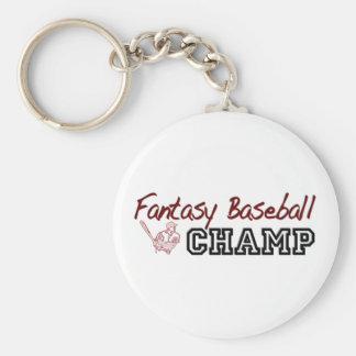 Fantasy Baseball Champ Basic Round Button Key Ring