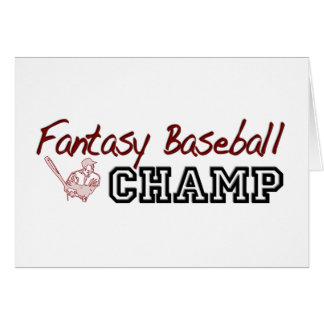 Fantasy Baseball Champ Greeting Card