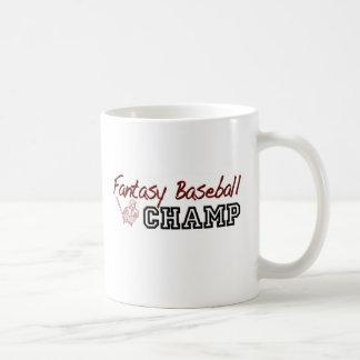 Fantasy Baseball Champ Basic White Mug