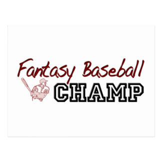 Fantasy Baseball Champ Postcard