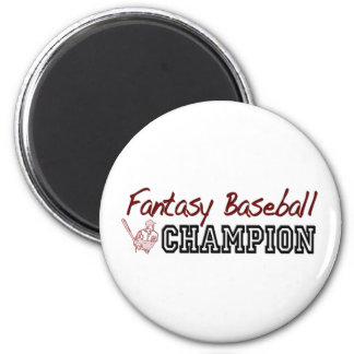 Fantasy Baseball Champion 6 Cm Round Magnet