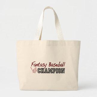 Fantasy Baseball Champion Tote Bags