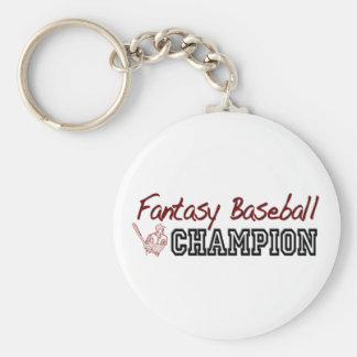 Fantasy Baseball Champion Basic Round Button Key Ring