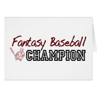 Fantasy Baseball Champion Greeting Card