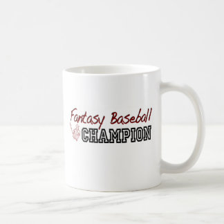 Fantasy Baseball Champion Coffee Mugs