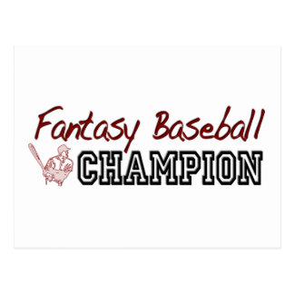 Fantasy Baseball Champion Postcard