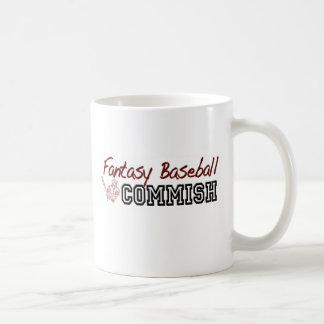 Fantasy Baseball Commish Basic White Mug