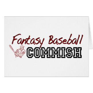 Fantasy Baseball Commish Greeting Card