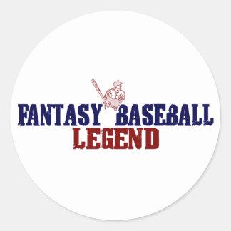 Fantasy Baseball Legend (2009) Round Sticker