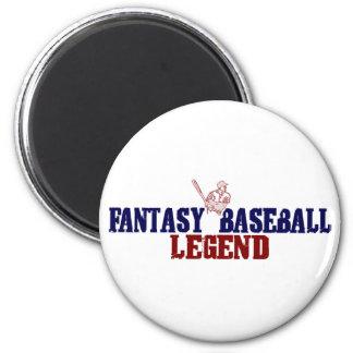 Fantasy Baseball Legend 6 Cm Round Magnet