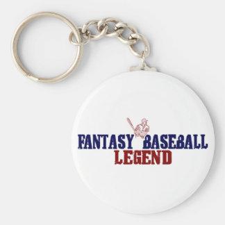 Fantasy Baseball Legend Basic Round Button Key Ring