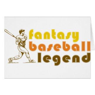 FANTASY-BASEBALL-LEGEND GREETING CARD
