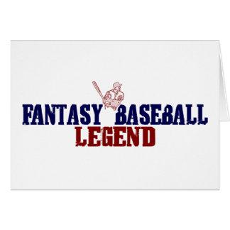 Fantasy Baseball Legend Greeting Card