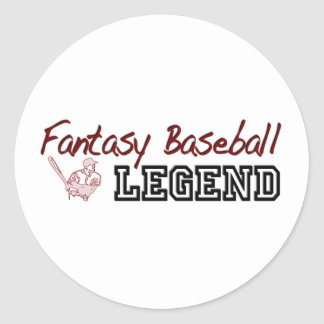 Fantasy Baseball Legend Round Sticker