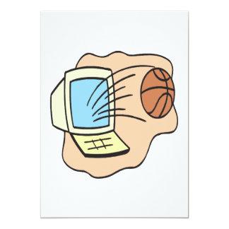 Fantasy Basketball 13 Cm X 18 Cm Invitation Card