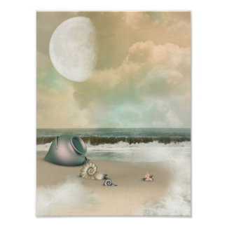 Fantasy Beach Poster