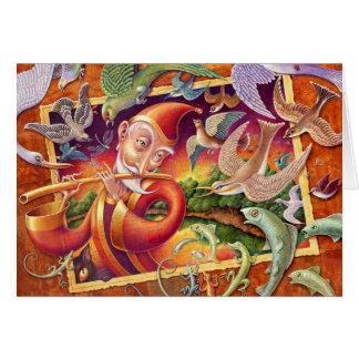 Fantasy Blank Card: Magic Flute Card