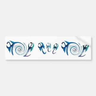 Fantasy Blue Dragons Bumper Sticker