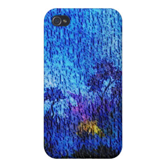 Fantasy blue flower illusion 4s  iPhone 4/4S covers
