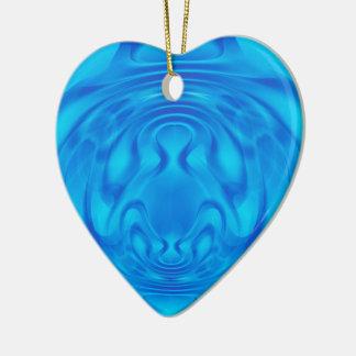 Fantasy Blue Heart Ceramic Heart Decoration