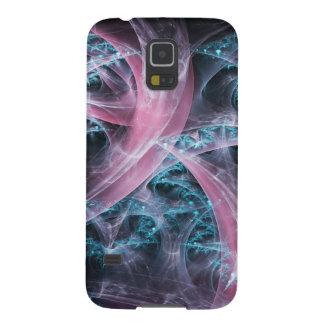 Fantasy blue pink fractal galaxy s5 case