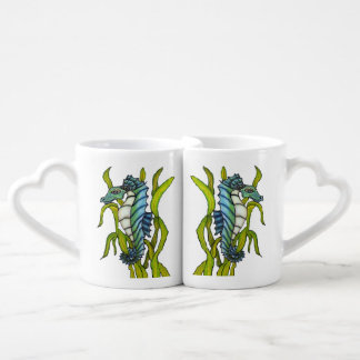 Fantasy Blue Sea Dragon Seahorse Seaweed Lovers Mug