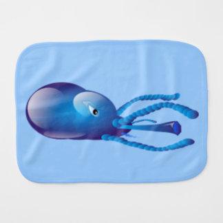 Fantasy Blue Squid Burp Cloth