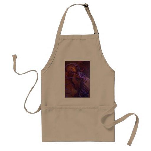 Fantasy Buckskin Horse in Purple by Leni Tarleton Apron