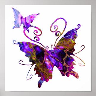 Fantasy Butterflies Poster